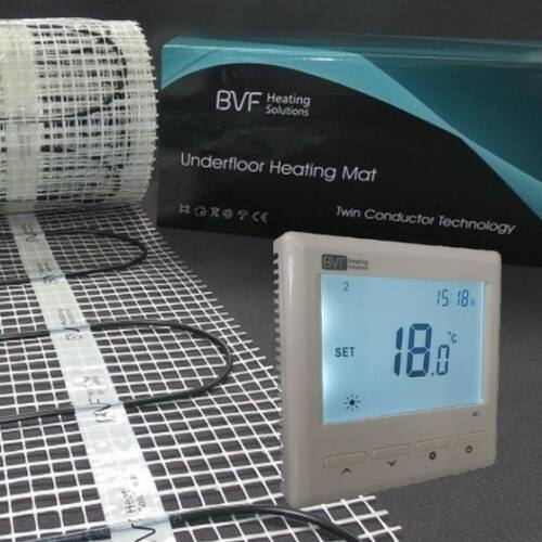 SET - Električna grijaća mreža 2,5 m2 sa 100W/m2 + digitalmni tjedni termostat BVF 601 sa podnim senzorom