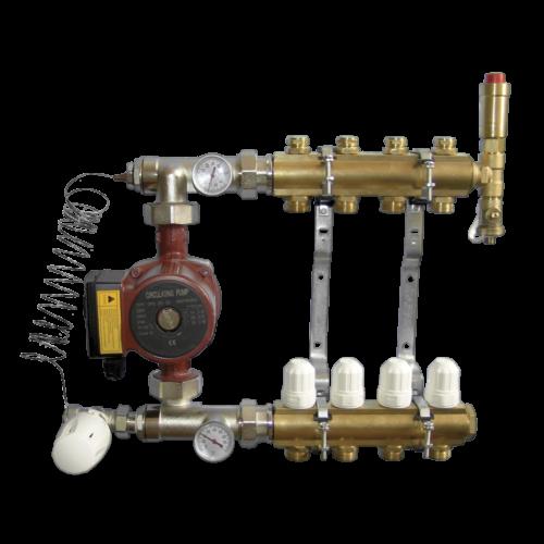Set - Cirkulacijska pumpa za centralno grijanje Computherm 25-60 EA sa razdjelnicima i regulacijom